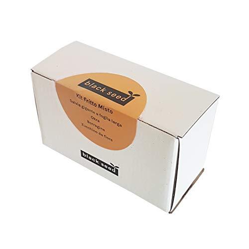 BLACK SEED - MIXED FRIED KIT - Nachhaltiges Saatgut-Kit - Geschenkidee mit 4 Sorten Bratgemüse:...