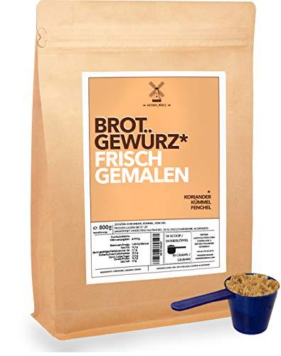 Brot-Gewürz-Mischung frisch gemahlen 800g Dachstein Natur Mix aus Koriander Kümmel Fenchel inkl...