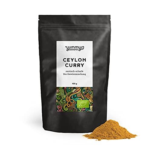 Yummy Organics BIO Ceylon Curry 100 g / Curry Pulver mittelscharf als exotisches Curry Gewürz /...