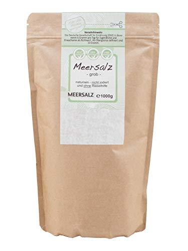 direct&friendly grobes Meersalz perfekt geeignet für die Salzmühle (1 kg)