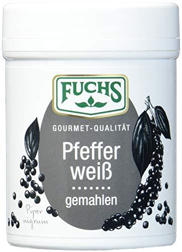 FUCHS Pfeffer weiß gemahlen, für gut zu dosierende und leicht milchige Schärfe im Zweierpack...