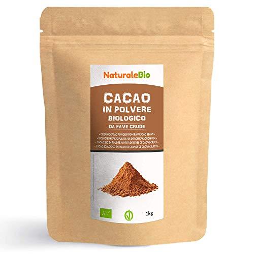 Kakao Pulver Bio 1 Kg. Organic Cacao Powder. 100% Natürlich, Rein aus de Roh Kakaobohnen....