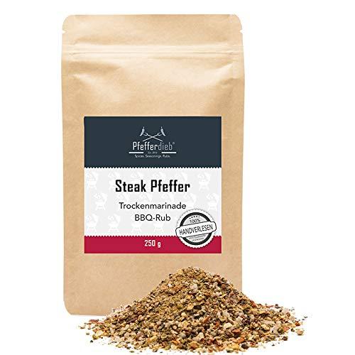 Pfefferdieb® - Steak Pfeffer - Premium Grillgewürz, Trockenmarinade, BBQ Rub, 250g
