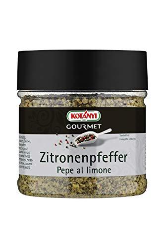 Kotanyi Gourmet Zitronenpfeffer Gewürzzubereitung | würzig-pfeffrig, zitronig-frisch, 230g