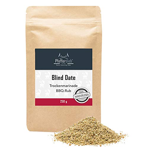 Blind Date - Premium Grillgewürz, Trockenmarinade, BBQ Rub, 250g - Pfefferdieb®