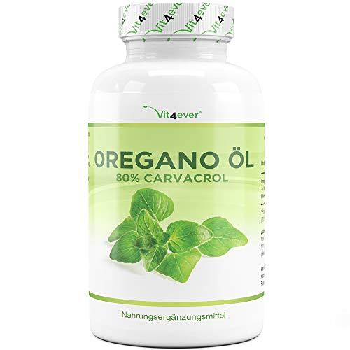 Oregano Öl - 120 Kapseln mit 150 mg - Premium: 80% Carvacrol & 10-fach konzentriert - 100%...