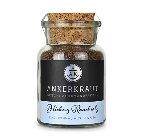 Ankerkraut Hickory Rauchsalz (Meersalz mit Hickory), 90g im Korkenglas
