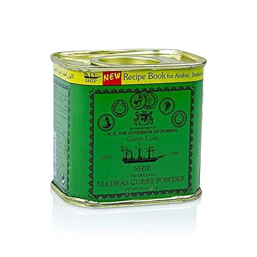 Curry Pulver'Madras', grüne Dose, Poonjiaji, 125g