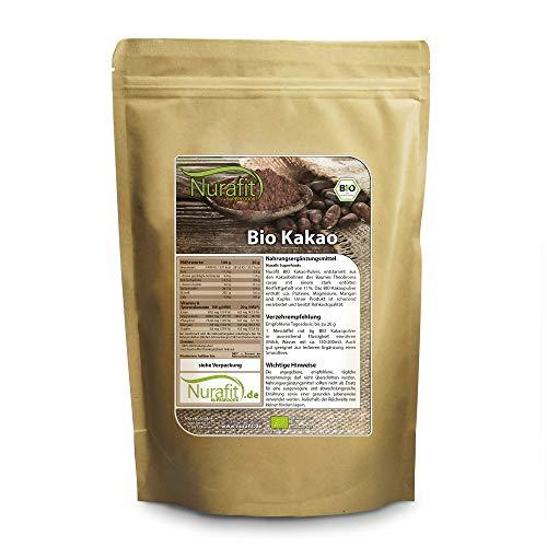 nur.fit by Nurafit BIO Kakaopulver 500g – rein natürliches Kakao-Pulver aus Kakaobohnen ohne...