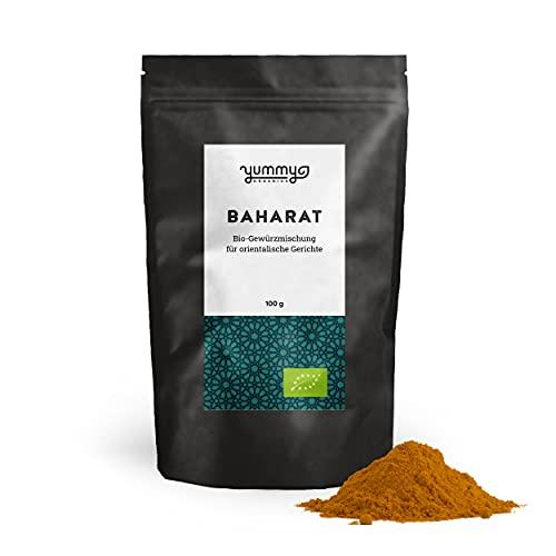 Yummy Organics BIO Baharat Gewürzmischung 100 g / orientalische Gewürze für arabische Gerichte /...