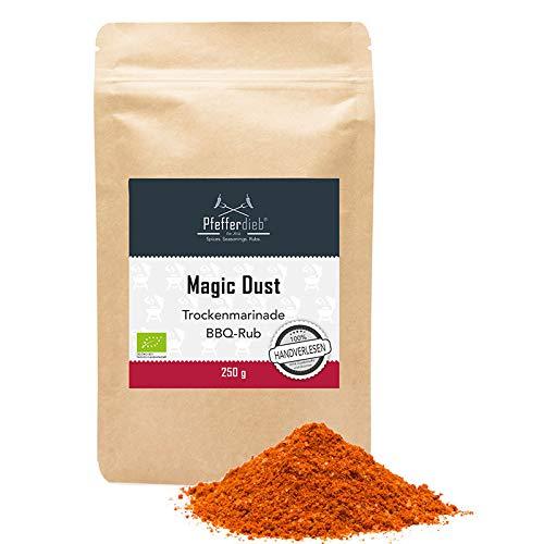 Magic Dust, Premium BIO Gewürzmischung BBQ Rub, Grillgewürz, Marinade für Fleisch, Steak, Pulled...
