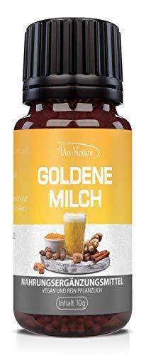 PowerSupps GOLDENE MILCH Globuli mit Kurkuma, Ingwer, Zimt und Kokosöl- vegan für Frauen und...