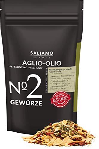 Aglio Olio e Peperoncino Gewürzmischung, grob scharf, Knoblauch, Spaghetti aglio e olio,...