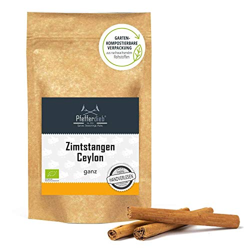 Ceylon Zimt, Zimtstangen 6 cm, 100% echtes Zimt direkt und erntefrisch aus Sri Lanka, 20 Stck. -...