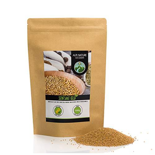 Senfkörner (1kg), Senfsaat gelb und weiß 100% naturrein, schonend getrocknet, Senfsamen natürlich...