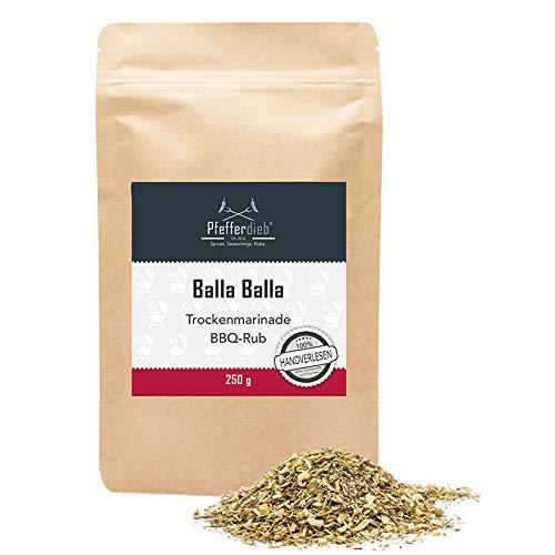 Balla Balla, Premium Grillgewürz mediterran, Trockenmarinade, BBQ Rub, für Lamm, Schweinefleisch...