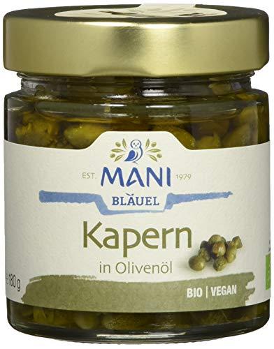 MANI ΜΑΝΙ Kapern in Olivenöl, bio, 2er Pack (2 x 180 g)