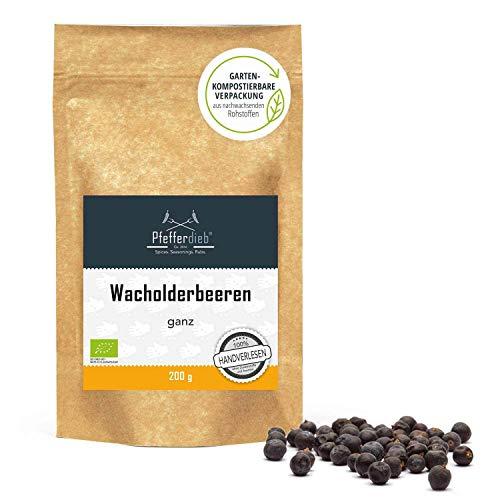 Wacholderbeeren ganz aus Wildsammlung, Wacholder, Premium BIO Qualität, 200g - by Pfefferdieb®