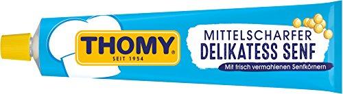THOMY Mittelscharfer Delikatess-Senf aus braunen undgelben Senfkörnern (für Senf-Soßen,...