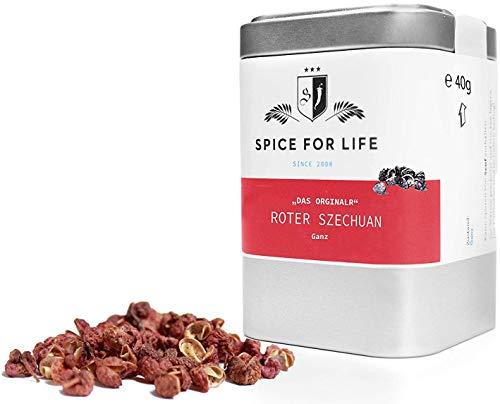 Spice for Life Roter Szechuan Pfeffer - Dose, 40 Gramm | Chinesischer Pfeffer | Sichuan Pfeffer