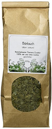 Valdemar Manufaktur Premium BÄRLAUCH-Blätter 100g (geschnitten) - HANDVERPACKT In Deutschland