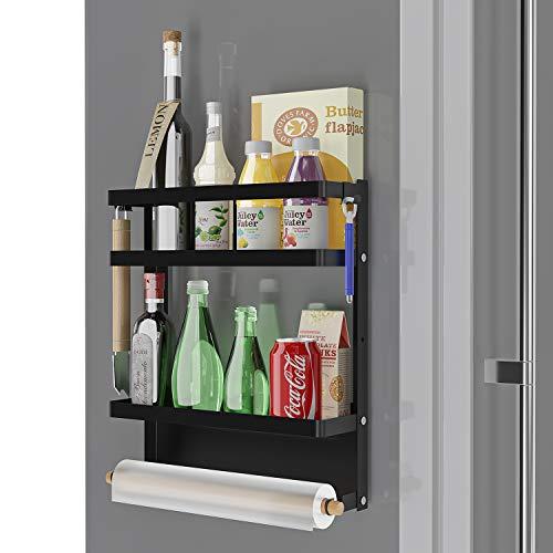 Atuwebo Kühlschrank Regal Hängeregal für Kühlschrank Magnet Küchenregal Gewürzregal mit...
