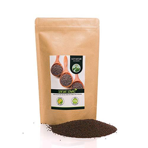 Senfkörner (500g), Senfsaat schwarz und braun 100% naturrein, schonend getrocknet, Senfsamen...