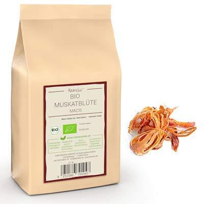 100g BIO Macis Muskatblüte ganz – fein-aromatische ganze Macisblüte in bester Bio-Qualität,...