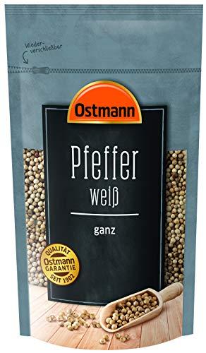 Ostmann Pfeffer weiß ganz 250 g, weiße ungemahlene Pfefferkörner, weißer Pfeffer ganz, für...