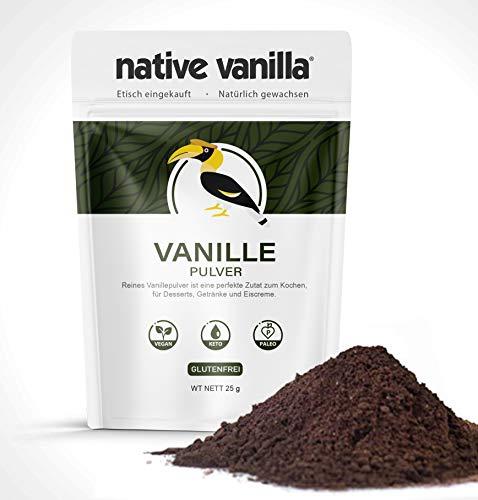 Native Vanilla - Vanillepulver - 100% reines gemahlenes Vanillepulver - Für Köche und...