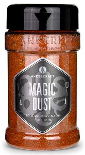 Ankerkraut Magic Dust, BBQ-Rub, Marinade für Fleisch, Gewürzmischung zum Grillen, 230g im Streuer
