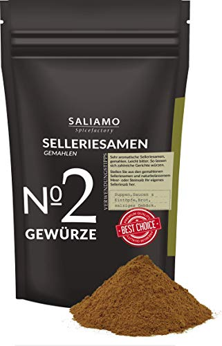 Selleriesamen gemahlen 100 g, Selleriesaat, Selleriesalz, Suppengewürz, zu Eintöpfen, als...