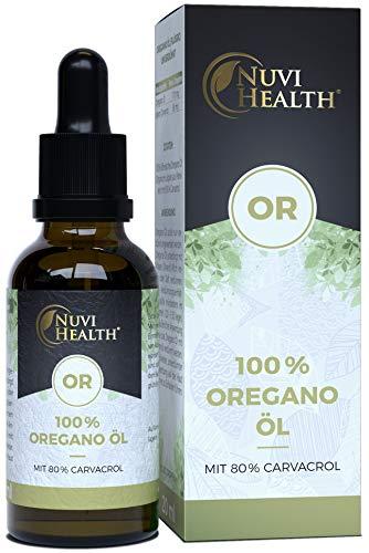 Oregano Öl - 20 ml = 820 Tropfen - 100% Premium ätherisches Oreganoöl aus Frankreich - 80%...