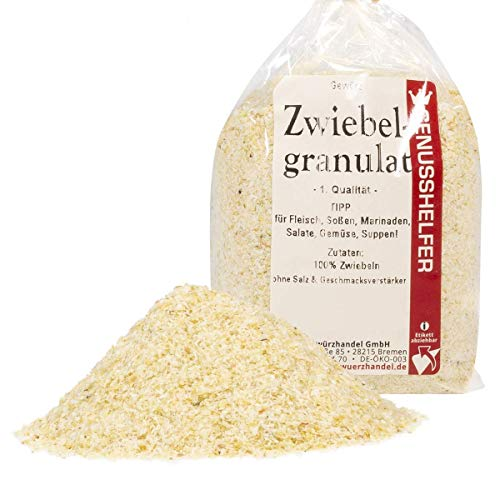 Zwiebeln 100 Gramm, Zwiebelgranulat, Zwiebelpulver, ohne Zusatzstoffe & ohne Geschmacksverstärker -...