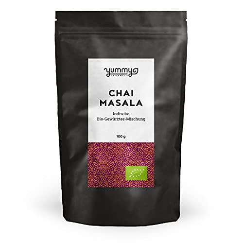 Yummy Organics Masala Chai 100 g / Bio Chai Tee Mischung für Chai Latte / Chai Gewürzmischung Fair...