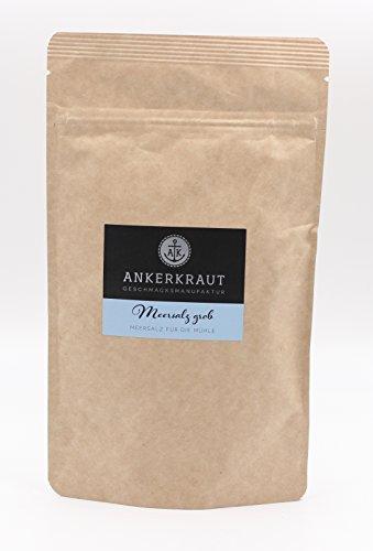 Ankerkraut grobes Meersalz für die Mühle, 300g im aromadichten Beutel
