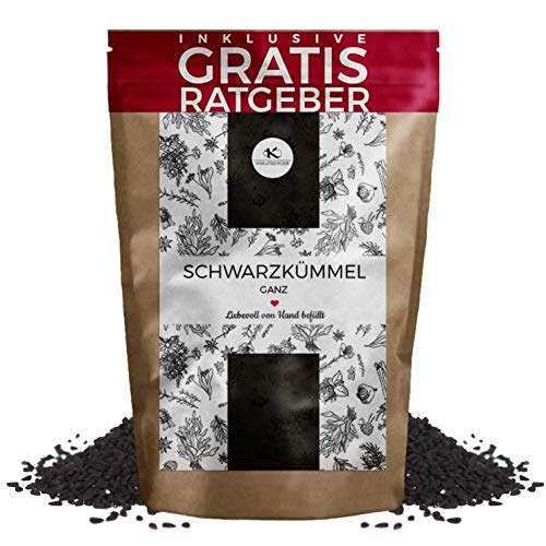 Schwarzkümmel Schwarzkümmelsamen ganz gereinigt 100g I aromatisches Küchengewürz inkl. gratis...