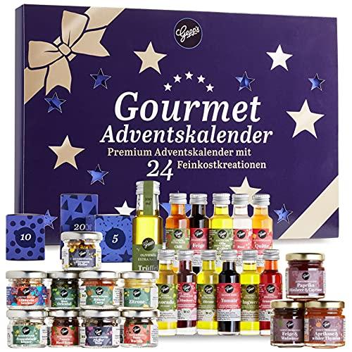 Gepp's Premium Adventskalender für Feinschmecker I 24 ausgefallene Gewürze, Dips & französische...
