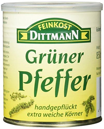 Feinkost Dittmann Grüner Pfeffer, handgepflückt, extra weiche Körner, 1er Pack (1 x 850 g)