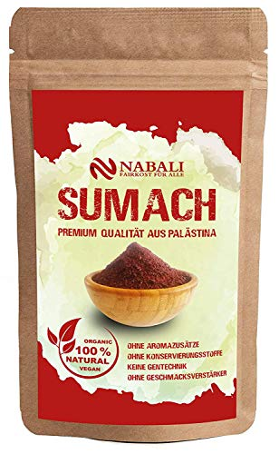 NABALI FAIRKOST FÜR ALLE Gewürz Sumach Sumac nach Ottolenghi 100 g - 100% naturell aromatisch...