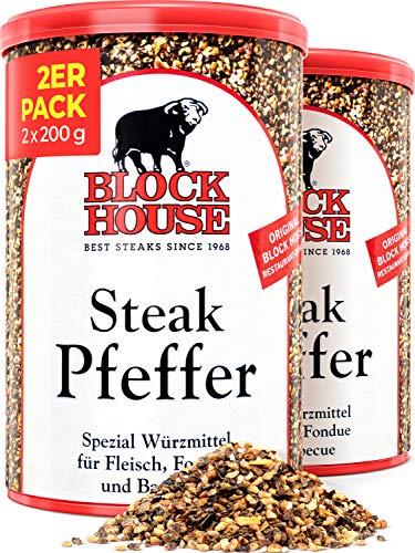Block House Steak Pfeffer Gewürzmischung 2x 200g - in Restaurantqualität