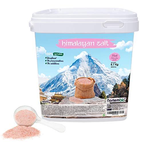 Nortembio Rosa Himalaya-Salz 6,7 Kg. Extra Feinkorn (0,5-1 mm). 100% Natürlich. Unraffiniert. Ohne...