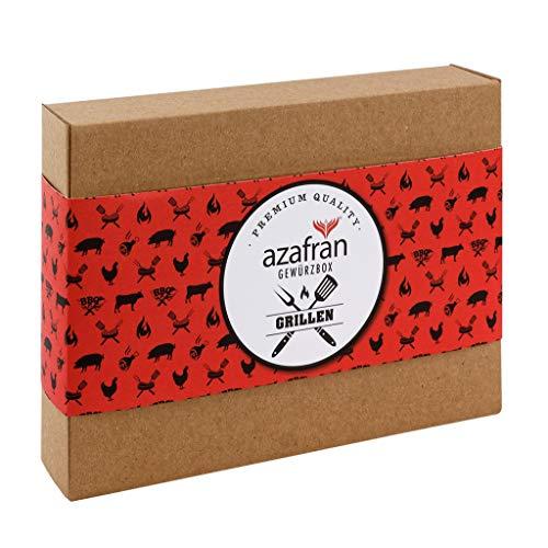 Azafran BBQ Gewürz Geschenk Set - Geschenkset Grillen mit 4 Gewürzen