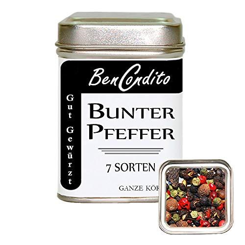 Bunter Pfeffer - Pfeffermischung mit 7 Pfeffersorten 80 Gr.