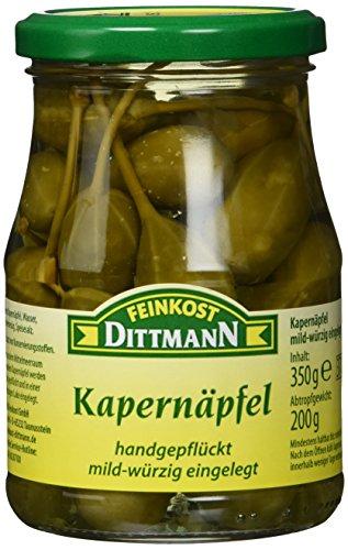 Feinkost Dittmann Kapernäpfel Glas, 3er Pack (3 x 350 g)