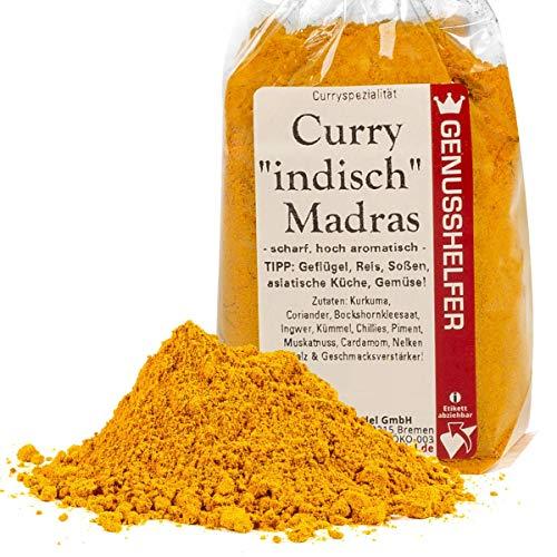 Curry Indisch Madras Gewürzmischung 100 Gramm hoch aromatisch, ohne Zusatzstoffe & ohne...