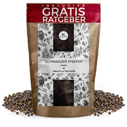 Schwarzer Pfeffer ganz 750g | Gourmet Pfeffer schwarz inkl. Gratis Ratgeber | Qualitäts...