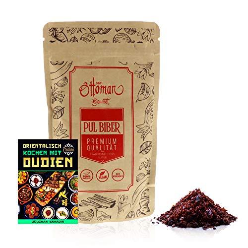 OUDIEN Pul Biber von Ottoman, getrocknete Paprikaflocken 200g, Gewürzmischung Paprika scharf inkl....