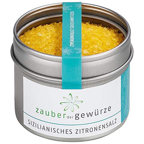 Zauber der Gewürze Sizilianisches Zitronensalz, mit Zitronenöl, Tischsalz, 125g