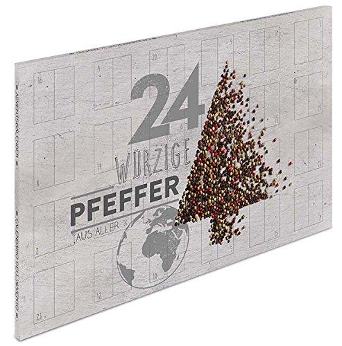 Großer Pfeffer Adventskalender - Gewürzkalender mit 24 erlesenen Pfeffersorten aus aller Welt für...